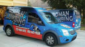PM's August 2012 Truck of the Month, Roman Plumbing. Photo credit: Roman Plumbing