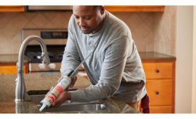 GE Silicone 2+ Kitchen & Bath 100% Silicone is a 100% waterproof sealant