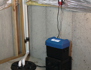 Blue Angel Backup sump system for basement flood protection