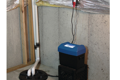 Blue Angel Backup sump system for basement flood protection-422px