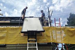 Glazed flat-plate solar collectors