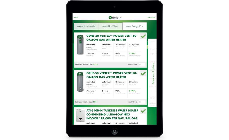 A O  Smith selection app | 2015-12-04 | Plumbing and Mechanical