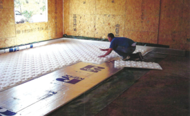 Installing radiant panels over insulation